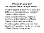 what can you do to improve heart care for women