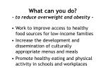 what can you do to reduce overweight and obesity