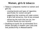 women girls tobacco