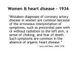 women heart disease 1936