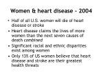 women heart disease 2004