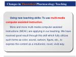 changes in theoretical pharmacology teaching2