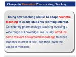 changes in theoretical pharmacology teaching3
