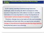 changes of theoretical and experimental pharmacology teaching