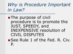 why is procedure important in law1