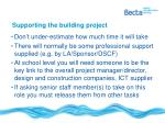supporting the building project