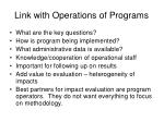 link with operations of programs
