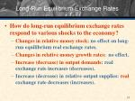 long run equilibrium exchange rates
