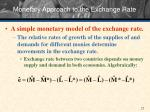 monetary approach to the exchange rate1