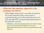 monetary approach to the exchange rate2