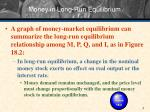 money in long run equilibrium2