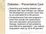 diabetes preventative care