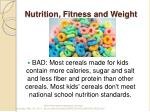 nutrition fitness and weight1