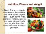 nutrition fitness and weight2