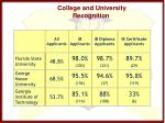 college and university recognition5