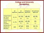 college and university recognition6