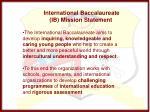 international baccalaureate ib mission statement