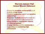 maynard jackson high school mission statement