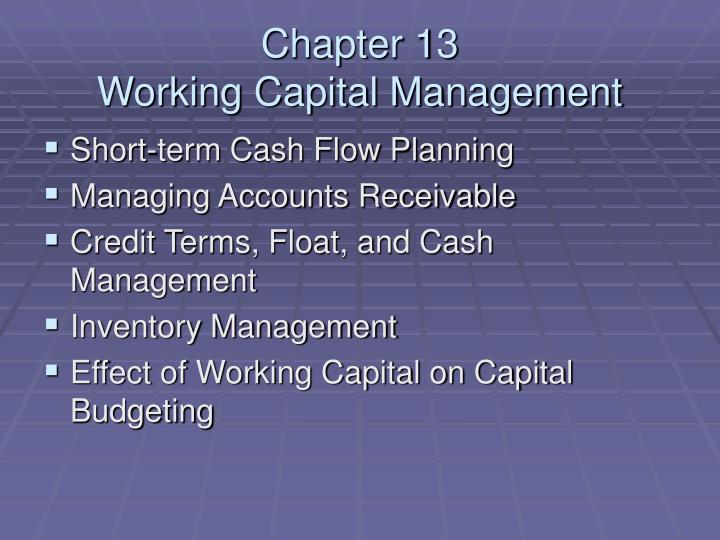 chapter 13 working capital management n.