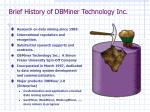 brief history of dbminer technology inc