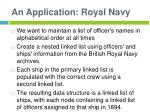 an application royal navy