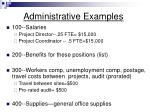 administrative examples