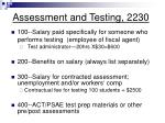assessment and testing 2230