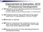 improvement of instruction 2210 professional development