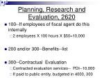 planning research and evaluation 2620