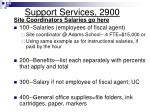 support services 2900