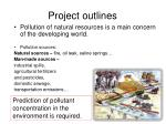 project outlines1