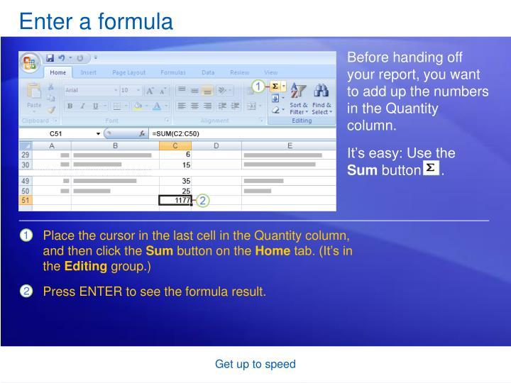 Enter a formula