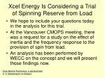 xcel energy is considering a trial of spinning reserve from load