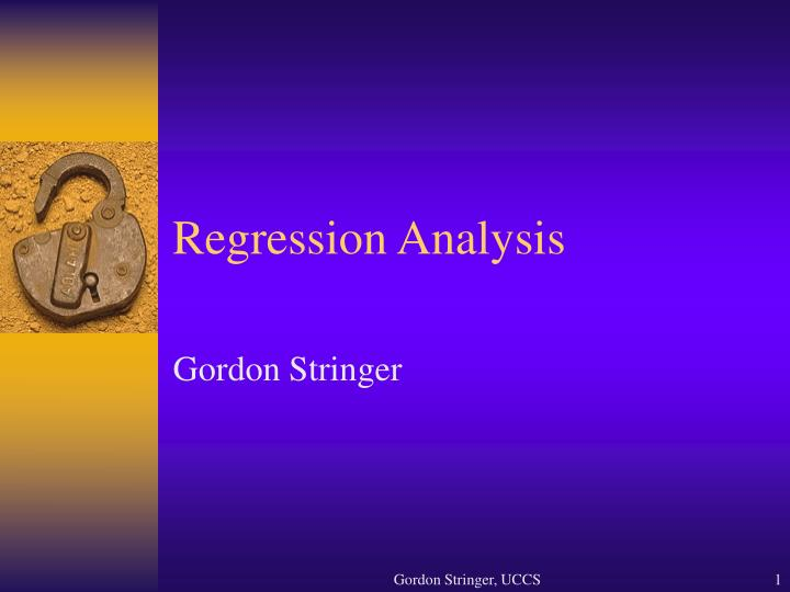 regression analysis n.