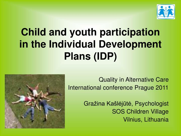 child and youth participation in the individual development plans idp n.