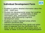 individual development form