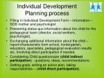 individual development planning process