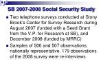 sb 2007 2008 social security study