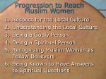 progression to reach muslim women