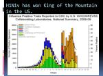 h1n1v has won king of the mountain in the us