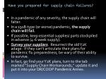 have you prepared for supply chain failures