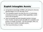 exploit intangible assets