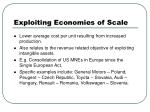 exploiting economies of scale