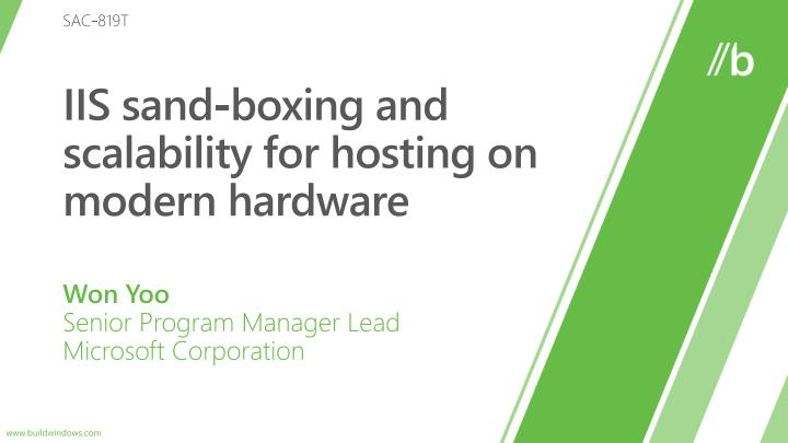 iis sand boxing and scalability for hosting on modern hardware n.