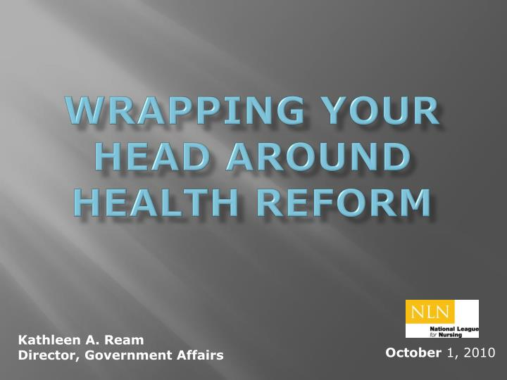 wrapping your head around health reform n.