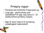 primary repair