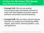 9 4 how can we protect wild species from premature extinction 1