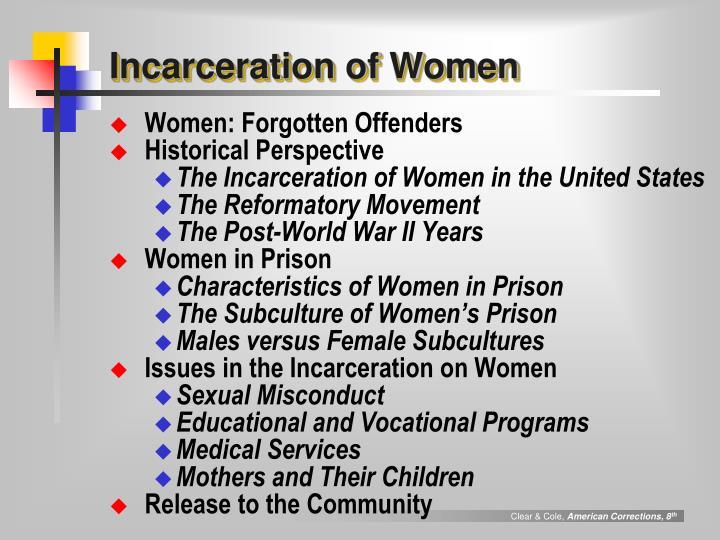 Incarceration of women