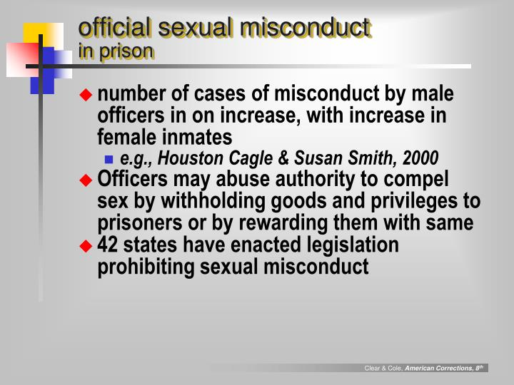 official sexual misconduct
