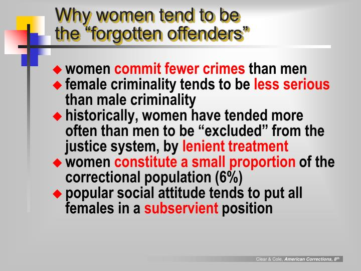 Why women tend to be the forgotten offenders